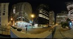 360 Degrees at the intersection of Nassau and Cedar Streets, New York, NY