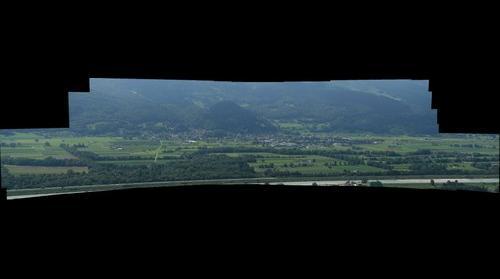Sevelen von Liechtenstein aus gesehen