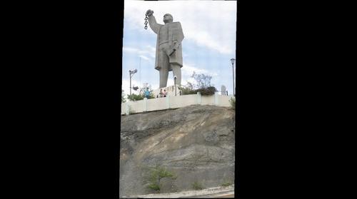GIANT STATUE OF MORELOS, ESTATUA GIGANTE DE MORELOS EN MONTEMORELOS, NUEVO LEON, MEXICO