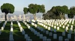 Fort Rosecrans National Cemetery with the city of San Diego in back Ground 
