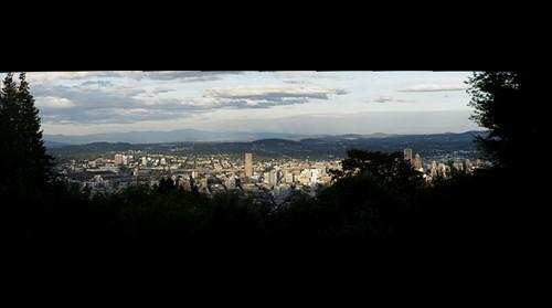Downtown Portland from Pittock Mansion