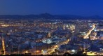 Alicante - Costa Blanca - Night Panorama From Castle Santa Barbara  (www.fotoseb.es)