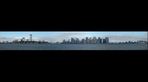 New York Skyline As Seen From Liberty Island