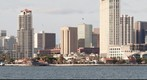 San Diego skyline as seen from Bay Park on Coronado Island