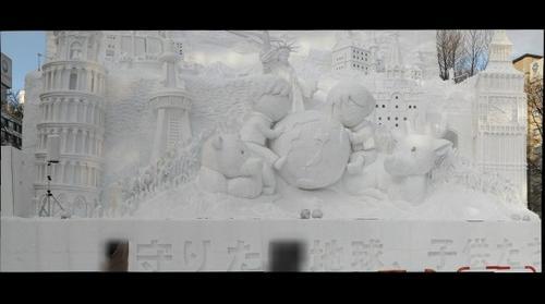 Saporro Snow Festival Statue