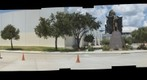 Houston Astrodome: Chief Touch the Clouds Statue and MetroRail Redline - a 360 Panorama
