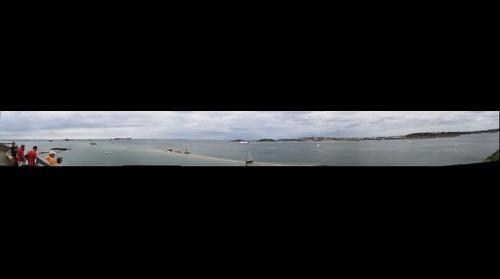 Saint Malo vu de Dinard