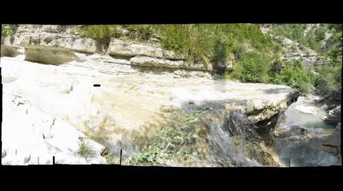 waterval in de buurt van Entrevaux