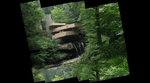 Fallingwater, from the View, August 10, 2009