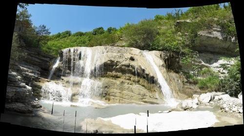 Waterval bij Entrevaux