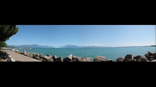 Lago Garda from Desanzano in Italy