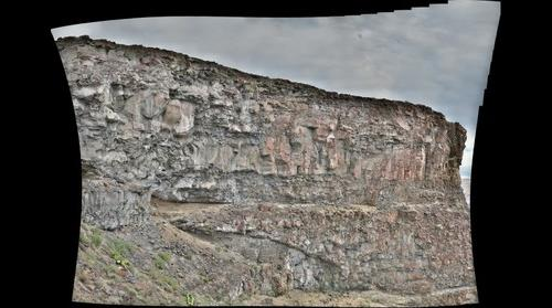 Intracanyon lava flows at Rinehart Cliffs, Owyhee River, OR