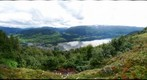 View of Voss, Norway from the top of mount Hanguren