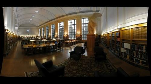 Thompson Library reading room at Ohio State University