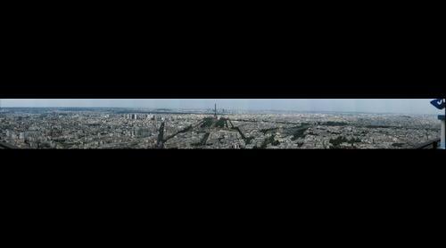 Paris view from Tour Montparnasse