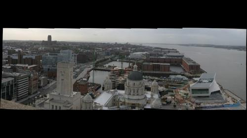 Albert Dock from the Liver Building