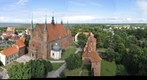 Panorama from tower in frombork 360 Panorama z wiey we Fromborku
