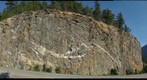 Felsic Dikes in Roadcut, North Cascades National Park