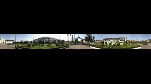 Acaxochitlan Atrio y Jardin Frontal de la Iglesia