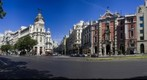 Gran Via de Madrid en su confluencia con la calle de Alcala