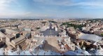 St Peters Basilica, Vatican city, 360 Rome cityscape