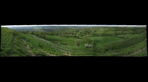 Marshwood Vale from Eggardon Hill, Dorset, UK