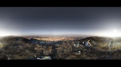 Prague - Panorama of the Skyline from Petrin Tower (Winter)