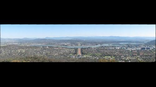 View of Canberra from Mount Ainslie