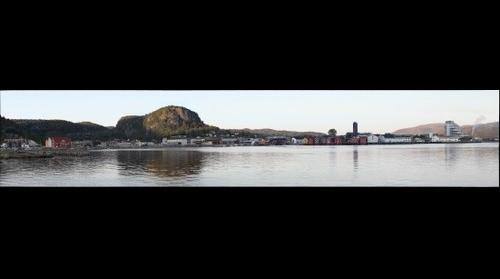 Namsos sentrum fra sør-vest