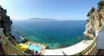 Off our balcony at Hotel Liro in Vlore, Albania