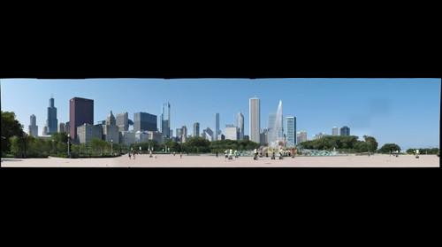 Chicago - Skyline as seen from the Fountain