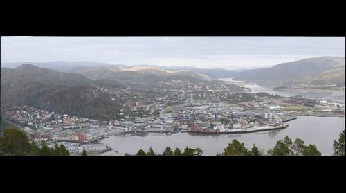 Namsos, utsikt fra Vedfjellet