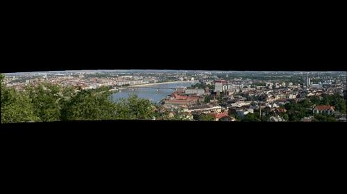 Kilátás a Gellért-hegyről Ferencvárosra és Lágymányosra