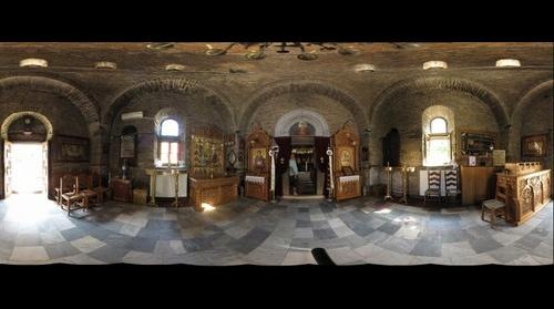The Ante Room in the Chapel at Evangelistria Monastery Skiathos Greece