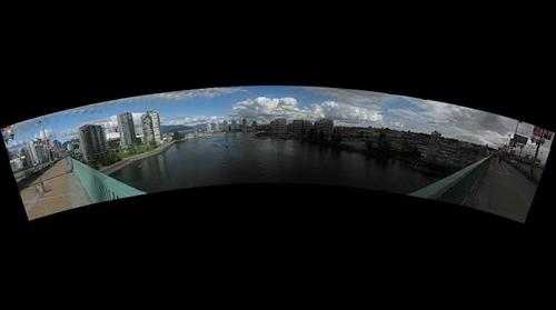 Cambie Bridge East Panorama