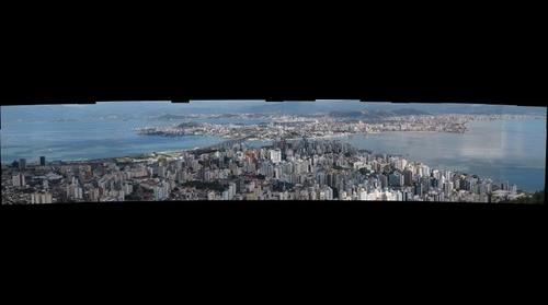 vista panorâmica da capita florianópolis