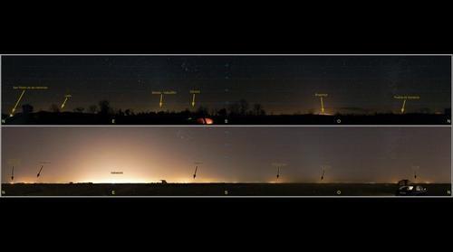 Comparación de contaminación lumínica