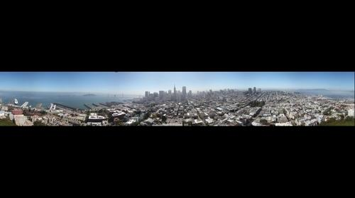 San Francisco, California -- 360 degrees (as seen from Coit Tower)
