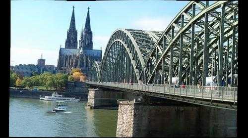 Cologne Hohenzollern Bridge and Dome