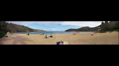 Hawaii -> Oahu -> Hanauma Bay (view from the beach)
