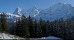 Eiger, Mönch and Jungfrau seen from the Winteregg near Mürren