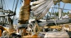 Tall Ship - Privateer Lynx - Mast Hoops Sail &amp; Ropes