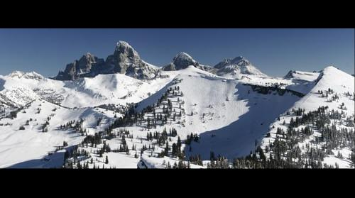 Tetons from top of Targhee