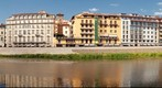 Firenze (Florence) viewed from Arno river, Italy