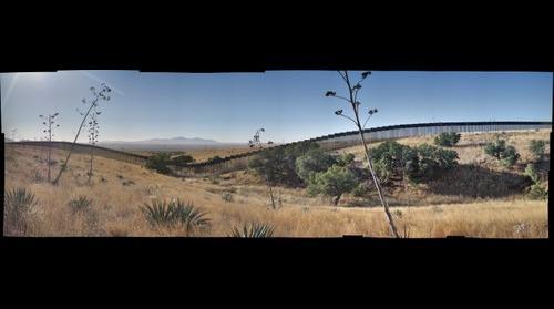 U.S. Mexico Border Wall Cutting-off Wildlife Corridor at  Buenos Aires National Wildlife Refuge, Arizona