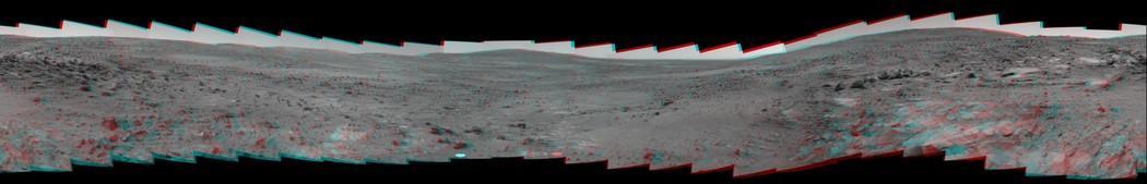 Imagens do Planeta marte feita por um robô (2005).