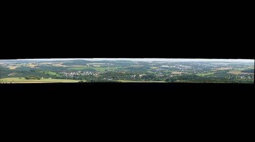 Blick vom Kuhberg auf die Göltzschtalbrücke
