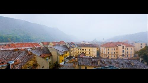 Brasov in the fog