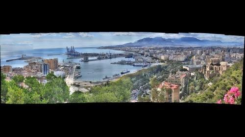 Malaga Este desde el Parador de Gibralfaro