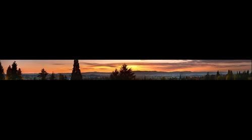 Sunset over Portland Oregon